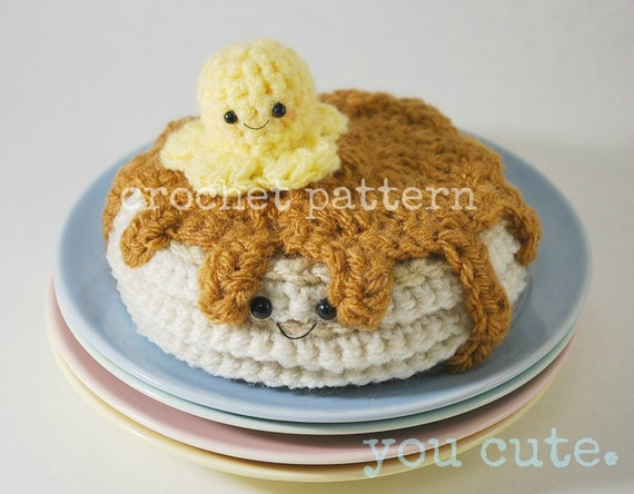 CROCHET PATTERN- crochet stack of pancakes