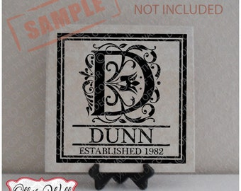 Vinyl Lettering Tile Decal Personalized Monogram