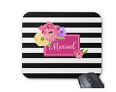 Gifts for coworkers, Personalized Mousepad, Monogrammed Mouse Pad, Monogrammed Mousepad, Custom Mouse Pad, Custom Mousepad