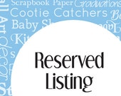 Reserved Listing for campamy1