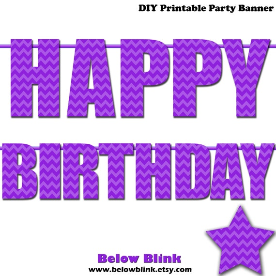 happy birthday letter banner items similar to purple happy birthday letter banner 8105