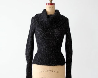 SALE vintage angora cowl neck sweater