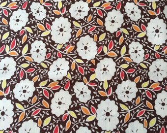 Mums in Brown, Katy Jump Rope Collection from Denyse Schmidt for Free Spirit Fabrics, 1/2 yd