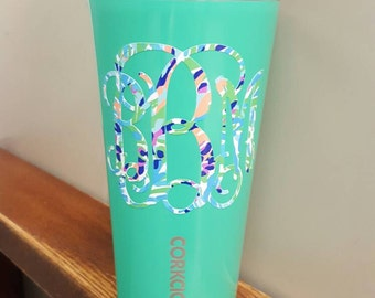 Lilly Inspired Monogram Decal for Yeti - Corkcicle -  Rtic  - Tumblers