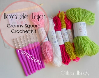 Hora De Tejer!!!! ***Granny square gloves KIT !!*** 7 different color combinations!