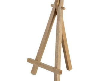 Miniature Wood Easel, Sign Display Stand, Wedding Sign Holder, Mini, Small, Natural Wood Easel - Holds up to 5 x7 inch Sign