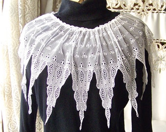 Vintage Lace Collar Costume Design Wedding Lace 1920s