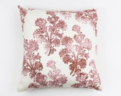 John Robshaw Pushpa Custom Pillows for Duralee 21039 (shown in Rosehips-comes in 4 colors)