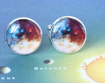 Space Cufflinks, Astronomy Cufflinks, Astrology cufflinks, Stargazing Cufflinks, Galaxy Cufflinks, Nebula Cufflinks, Astrophysics Cufflinks
