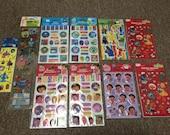 10 packages Children TV Show stickers - Dora the Explorer Thomas the Tank Sesame Street Spongebob