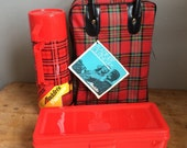 Vintage Aladdin NOS Plaid Picnic ALA-DINER Outing Kit New Old Stock 1973