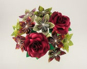 Origami Flowers / 4 Red Roses