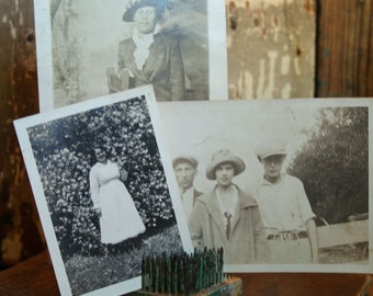 Vintage Photographs - Set of Three - Assemblage, Mixed Media, Altered Art