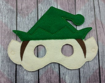 Elf Felt Children's mask, Christmas Elf, Shelf Elf