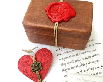 Wood anniversary gift,  5th anniversary gift Personalized message for him or for her