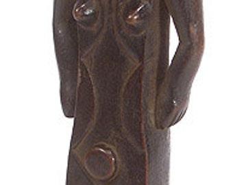 Bembe Half Figure Female on Stand Congo African Art 92171