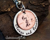 Anniversary Gift - Penny Keychain - Personalized keychain - Gift for men