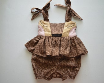 Fawn Peplum Romper by Papoose Clothing