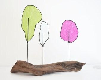 Tree Sculpture - Driftwood - Wire Sculpture -Nature Art - Modern Abstract - Paper Art
