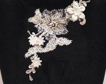 Bridal Ivory Lace Necklace / Choker