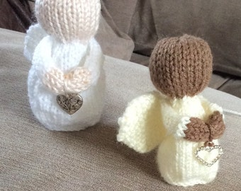 Knitted Guardian Angel with or without charm