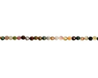 Fancy Jasper Faceted Round Bead 4mm - 1 Strand Wholesale price (9196)/1