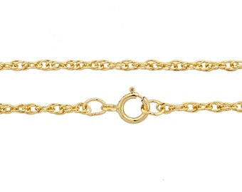 14Kt Gold Filled 1.6mm 20Inch Rope Chain - 1pc (3003)/1