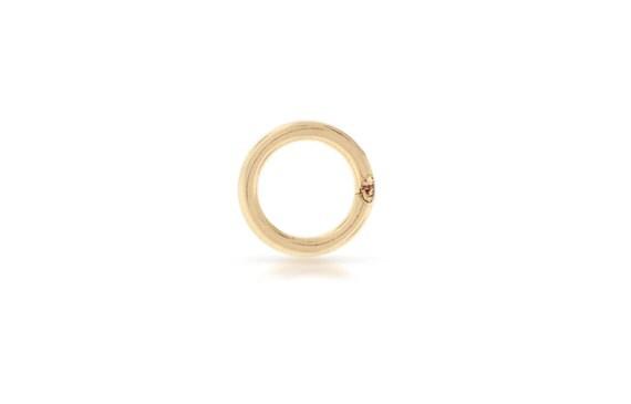 Gold Jump rings 14kt Gold Filled 18gauge 6mm Solder Closed Jump Rings - 10pcs (2759)