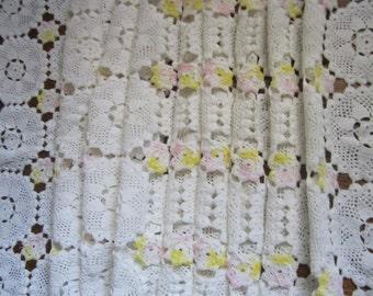 Vintage Crochet Table Runner Crocheted Scarf