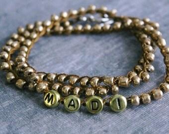 name bracelet, custom bracelet, name jewelry, personalized jewelry, personalized bracelet, gold bracelet, personalized gift, custom gift