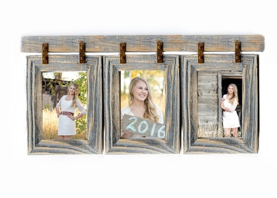 2 barnwood collage frame 3 8x10 multi opening by rustymill on etsy. Black Bedroom Furniture Sets. Home Design Ideas