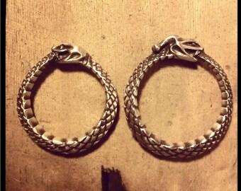 Custom Ring, Ouroboros Ring, Silver Snake Ring, Sterling Silver Vintage Style Ring, Sterling Silver Ouroboros Ring, Custom Ring Size