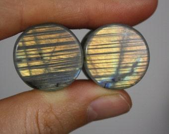 """3/4"""" Striped Labradorite Plugs"""