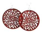 Raindrop Circle - Wood Laser Cut Earrings