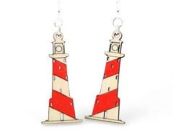 Light House Earrings - Wooden Earrings