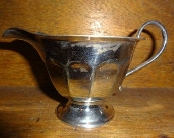 Vintage English EPNS Sheffield Silver Plate Metal Gravy Sauce Boat Jug Pitcher circa 1920-30's / English Shop