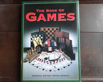 Vintage English The Book Of Games Peter Arnold Book Instructions circa 1992 / English Shop