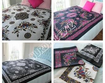 Square tablecloth -Mandala tapestry wall hanging - Picnic Park Beach Yoga cloth - Ottoman tile print- bohemian bedding custom duvert