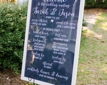 Wedding Chalkboard Calligraphy Program - DIY - Printable