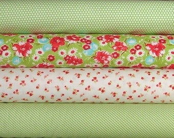 Little Ruby Bundle of 4 in Green by Bonnie & Camille for Moda