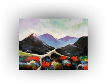 "ABSTRACT Original Painting Landscape Painting Art, ""New Day"", 20 x 16, Skye Taylor"