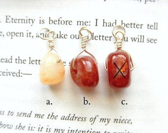 Small Anatomic Heart Pendant - Crab Agate - Choose Your Own / Rustic Valentine's Day Chunky Nugget Dangle Unique Gothic Jewelry