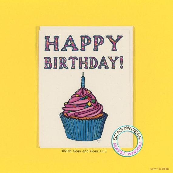 Happy Birthday For Him Funny ~ Happy birthday cupcake funny card