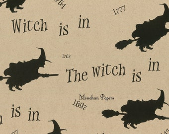 The Witch is In Wrapping Paper - SPS260 - Gift Wrap - Halloween - Witch - Wrapping Paper - Kraft Wrap - Table Runner - Party Supply