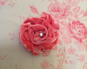 Vintage velvet rose Handmade GORGEOUS many colors available