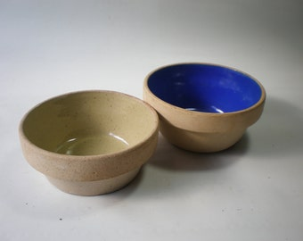 Vintage Two Classic Stoneware Bowls