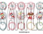 Multipack Baby It's Cold Outside Christmas Ornament Bottle Cap Images