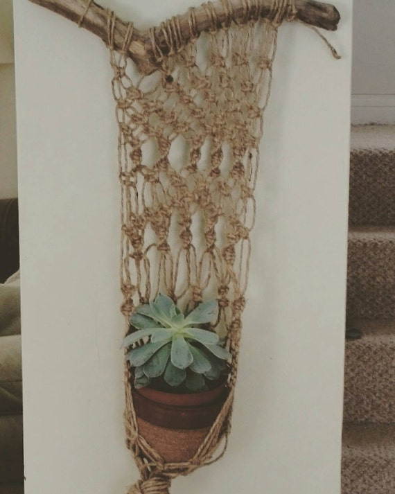 Pottery Plant Hanger Macrame Wall Hanging By