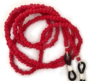 Handmade - Glasses Leash - Peeper Keeper - Red Matte - GL2012