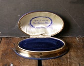Vintage Blue Velvet Waltham Watch Box